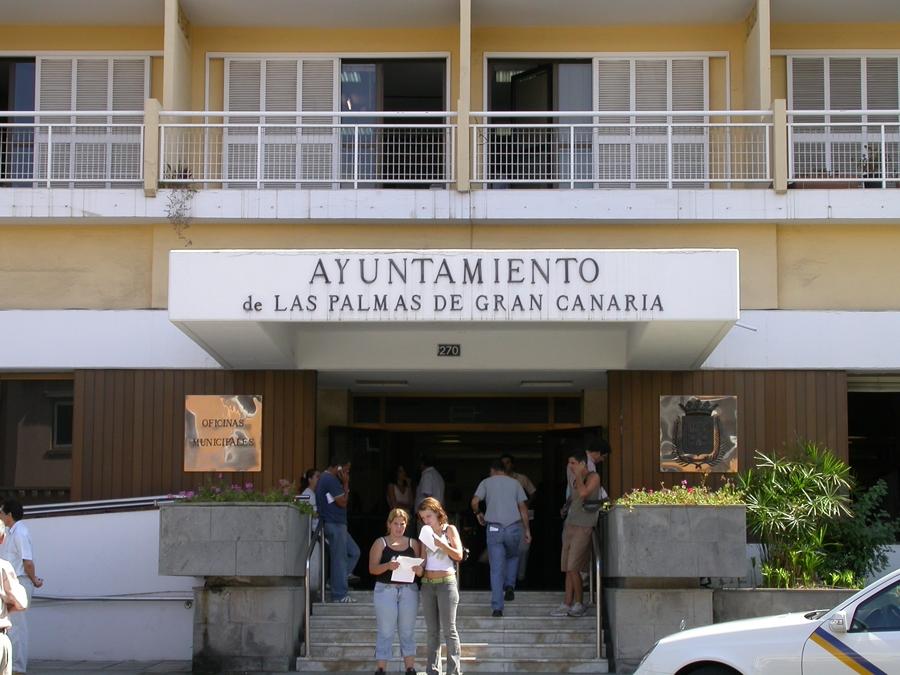 Fachada del edificio del Ayuntamiento de Las Palmas de Gran Canaria