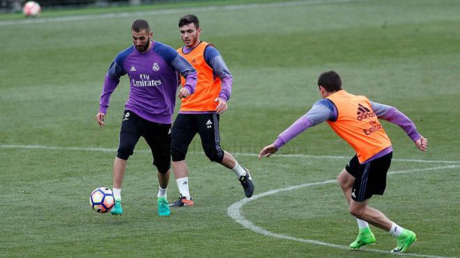 Sesión de entrenamiento de Karim Benzema