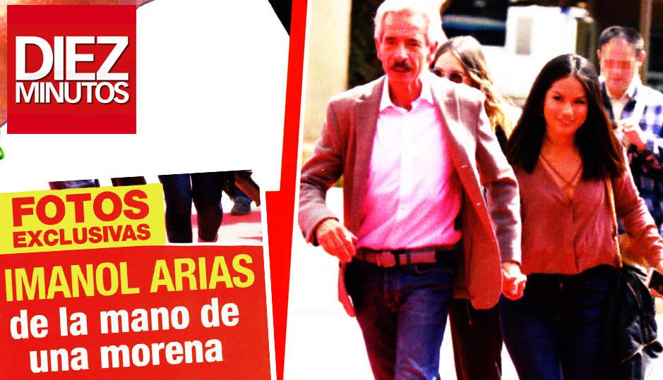 Porta de la revista Diez Minutos donde aparece Imanol Arias con una joven