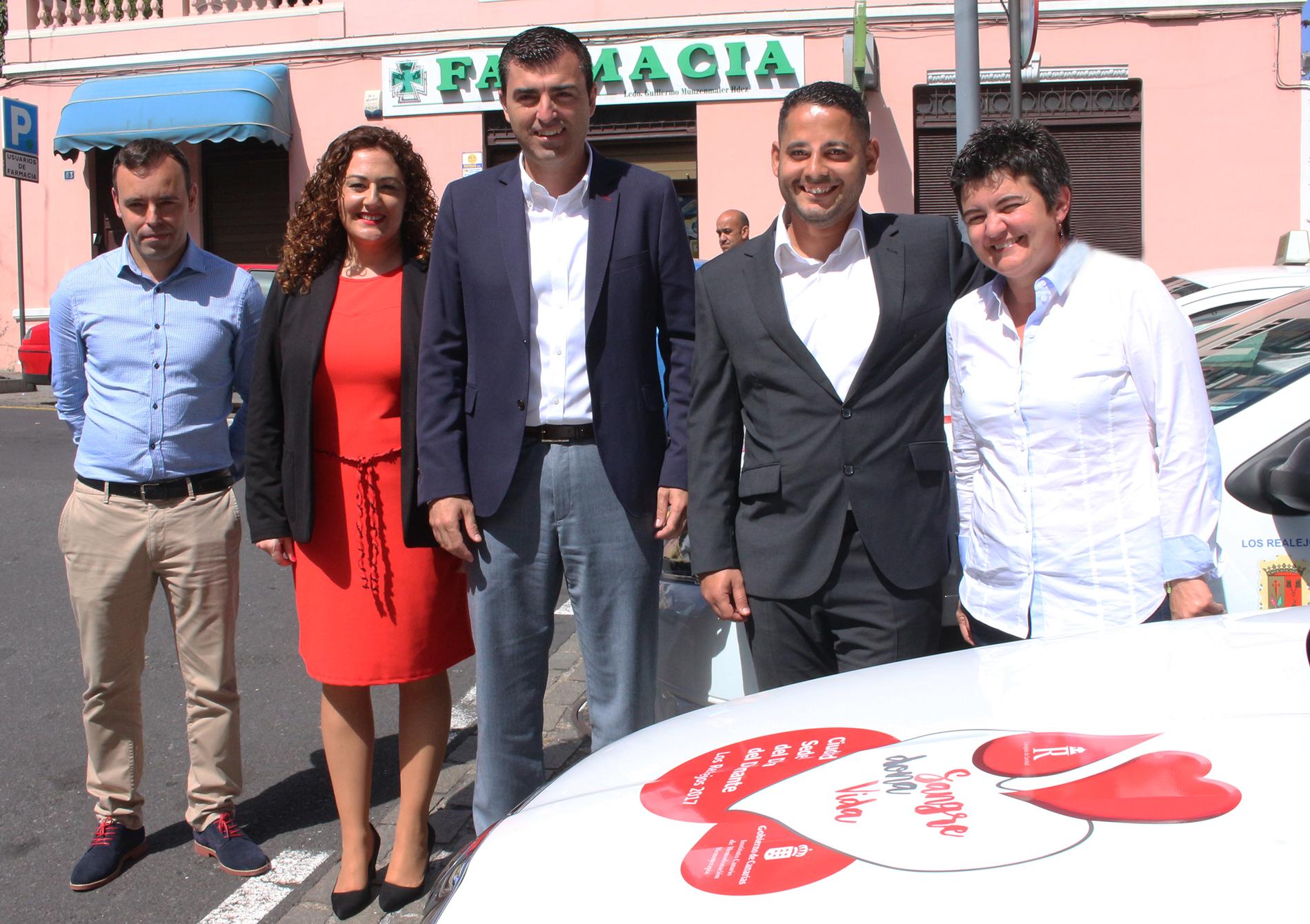 Campaña de donación de sangre en los taxis de Los Realejos