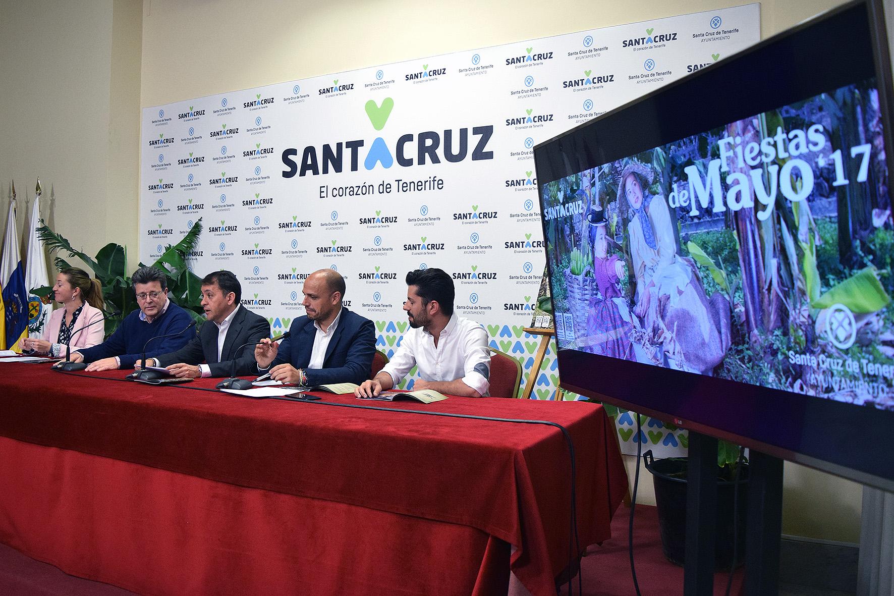 Presentación de las Fiestas de Mayo en Santa Cruz de Tenerife