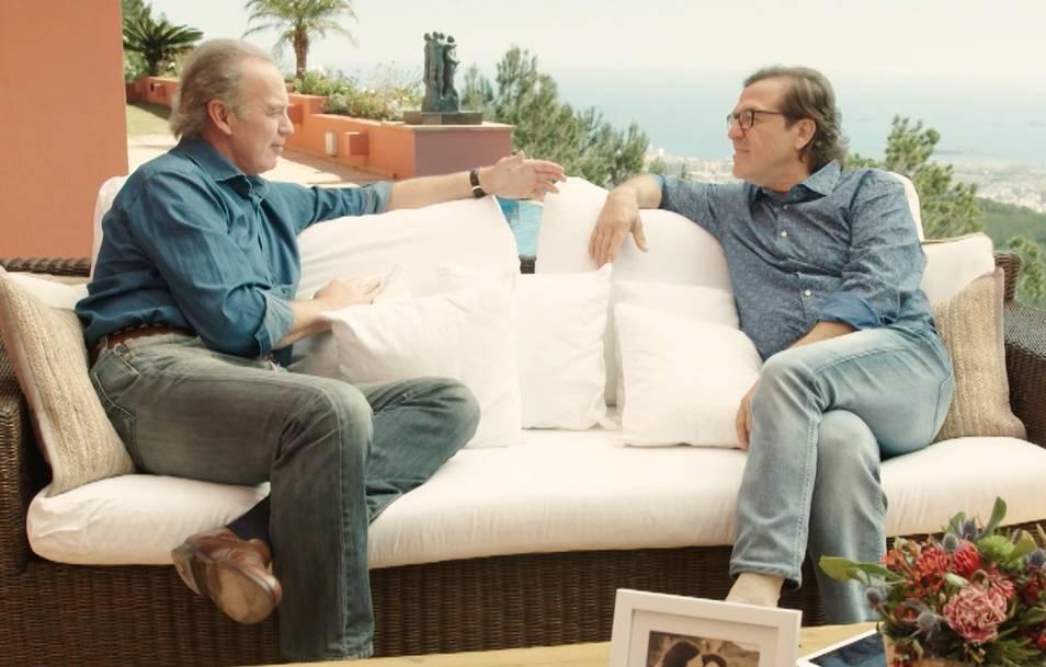 "Bertin Osborne y Pepe Navarro en el programa ""Mi casa es la tuya"""