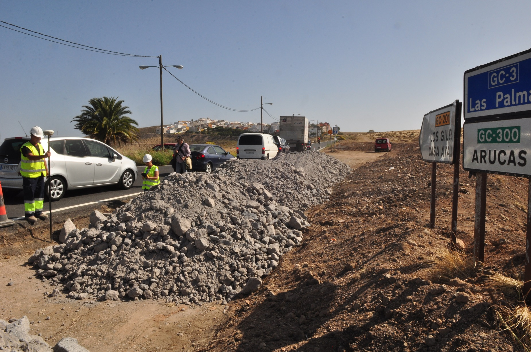 Obras en Los Giles en Las Palmas de Gran Canaria