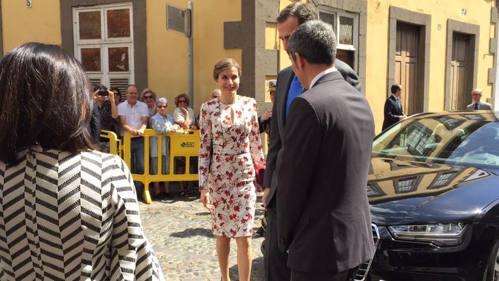 Los Reyes a la llegada a la Casa de Colón en Las Palmas de Gran Canaria
