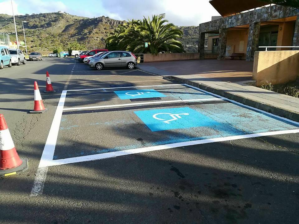 Aparcamiento de movilidad reducida en Santa Brígida