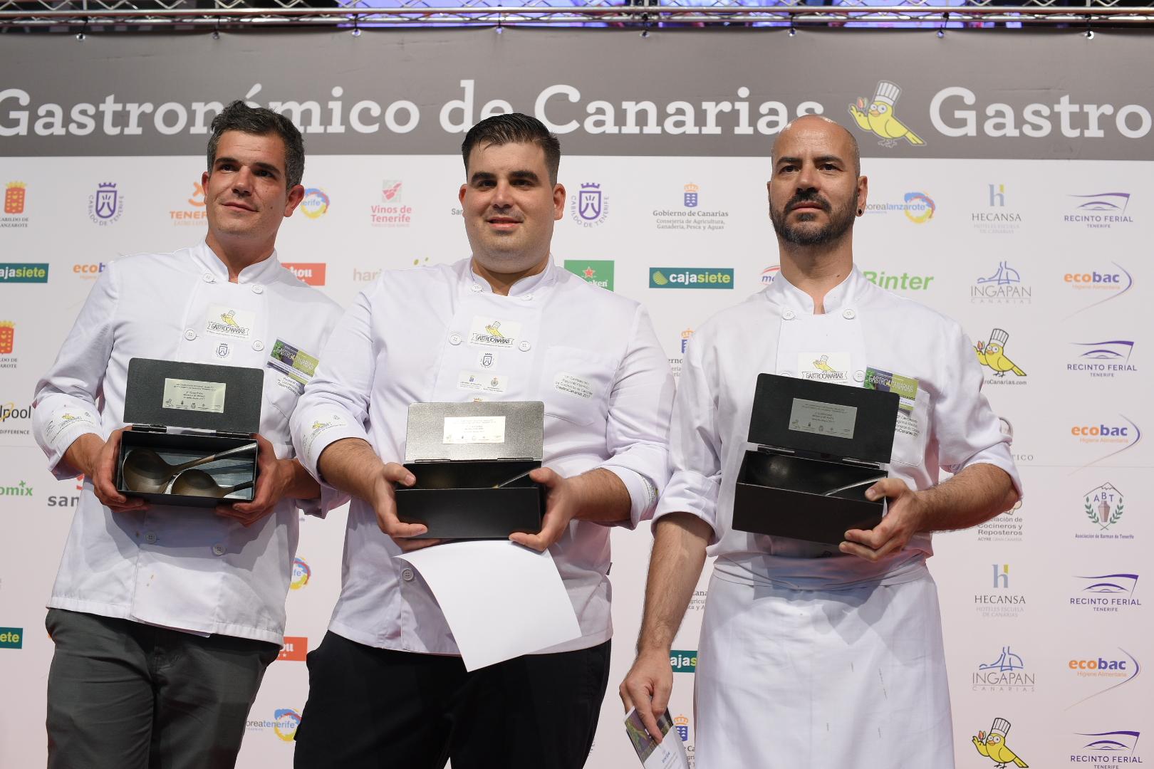 Los tres ganadores