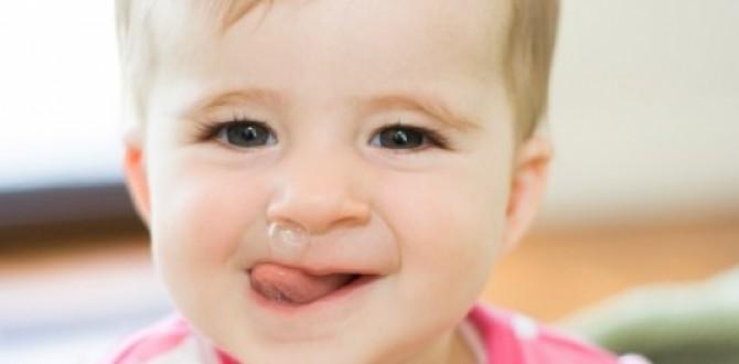 Bebé con mocos