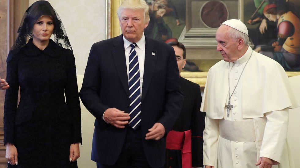 Donald Trump, Melania y el Papa Francisco