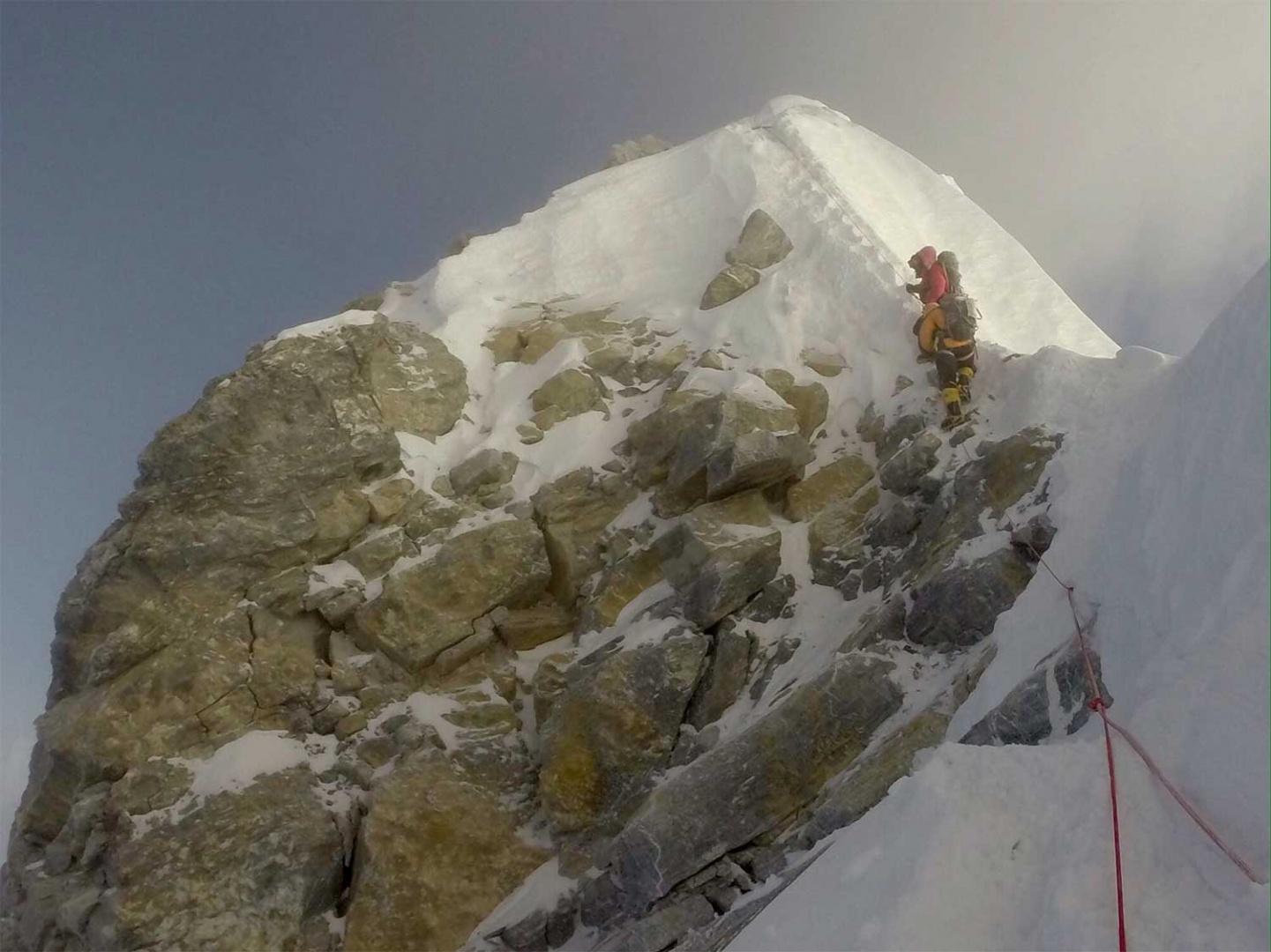 Escalón de Hillary en el Everest