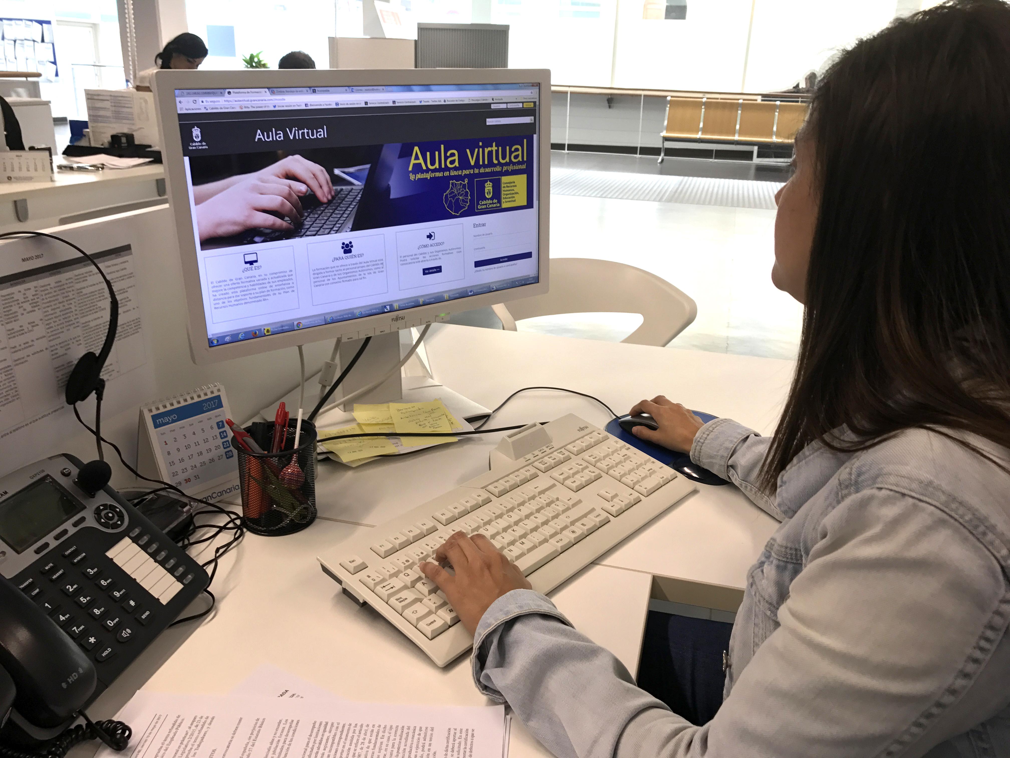 Gran Canaria pone en marcha un aula virtual de formación para los empleados públicos