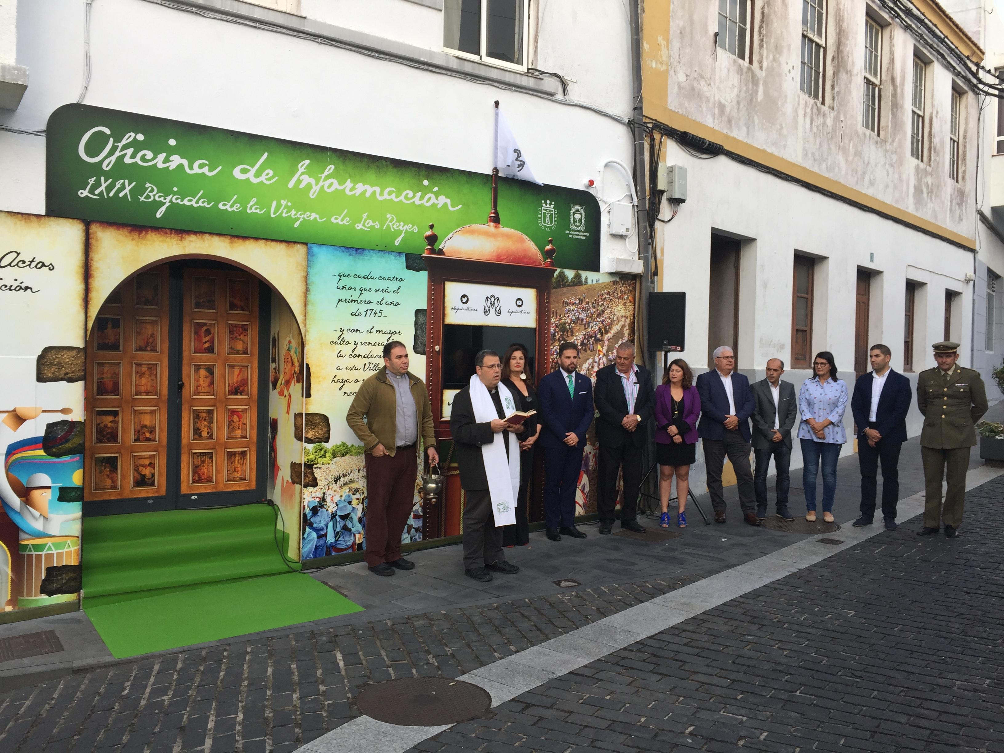 Fachada de la Oficina de la Bajada de la Virgen de Los Reyes en Valverde