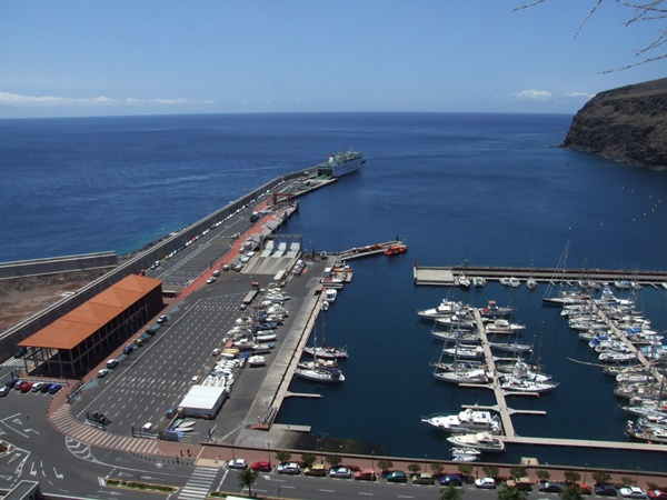 Vistas del muelle de San Sebastián de La Gomera