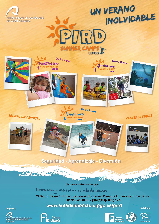 Cartel de las actividades de verano en la ULPGC