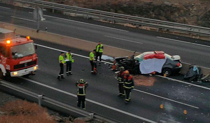 Dos muertos en choque frontal causado por un conductor kamikaze en Tenerife