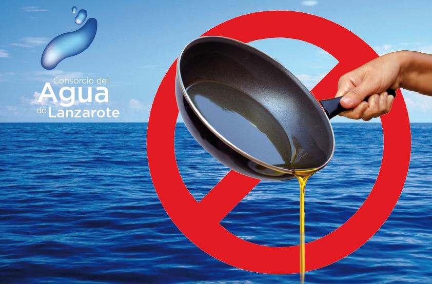 Cartel de prohibido tirar aceite al mar