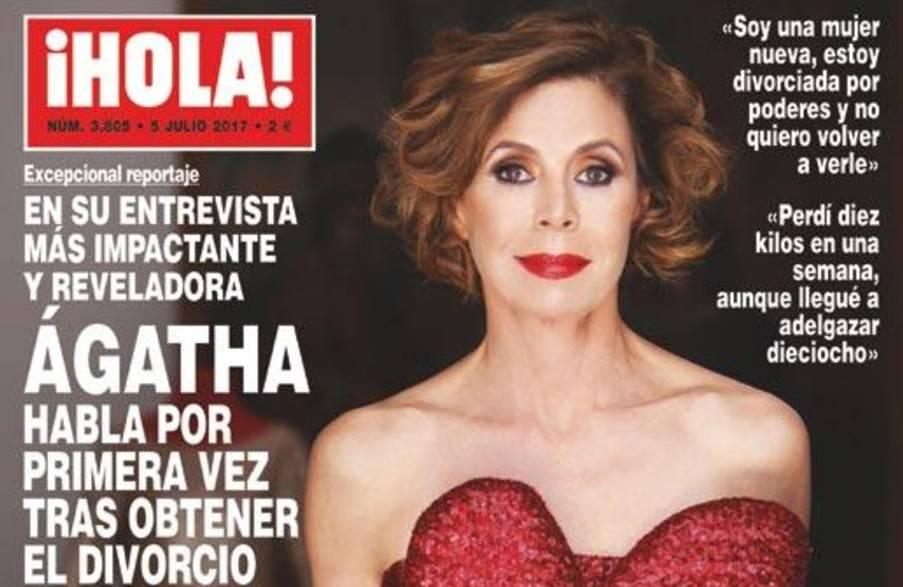 Ágatha Ruiz de la Prada en la portada de la revista Hola