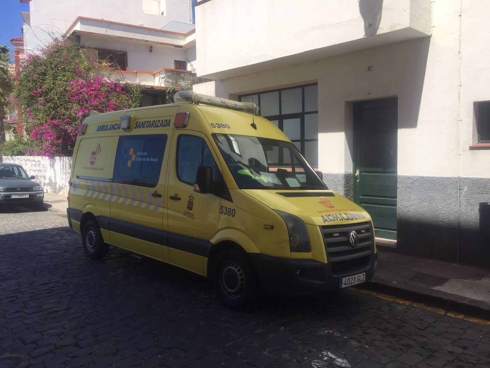 Ambulancia del SUC en La Palma