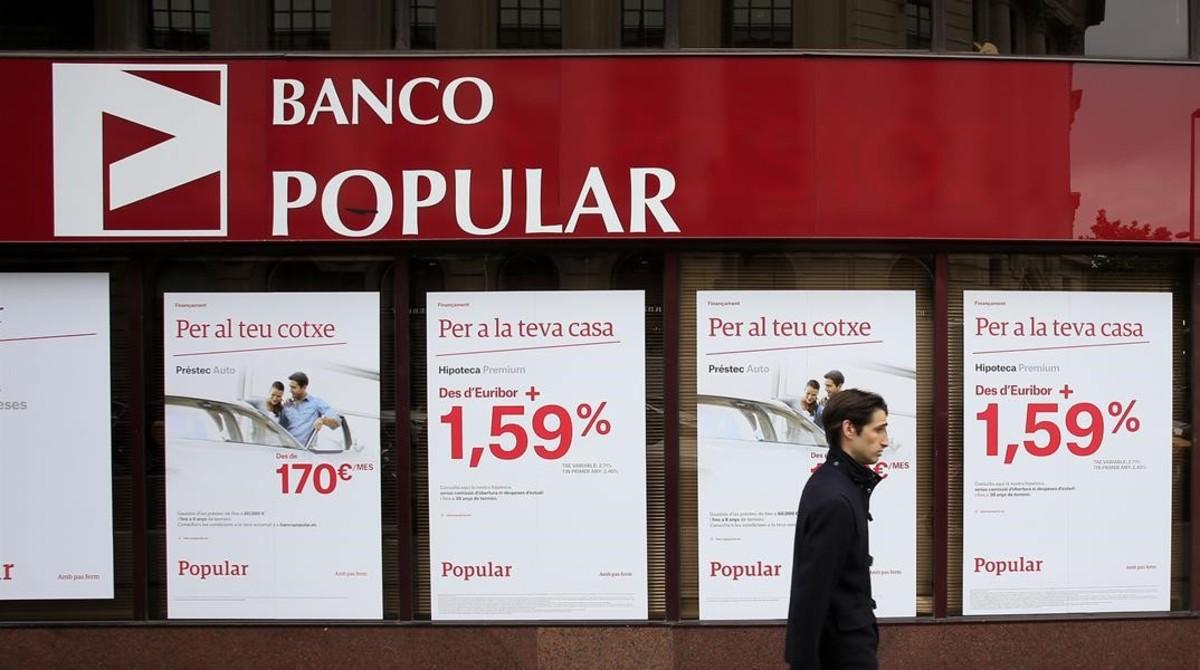 Fachada del Banco Popular