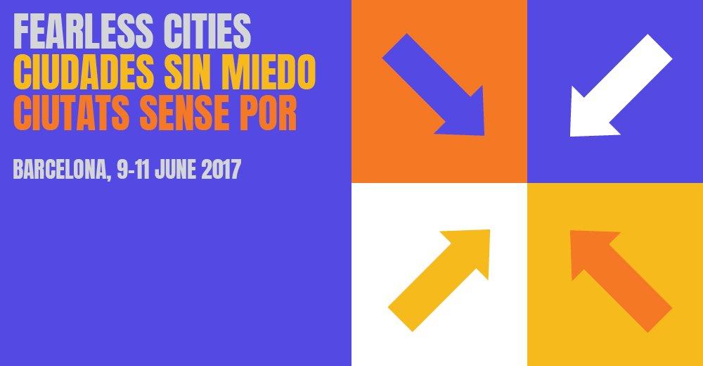 Cartel del Encuentro Municipalista de Barcelona