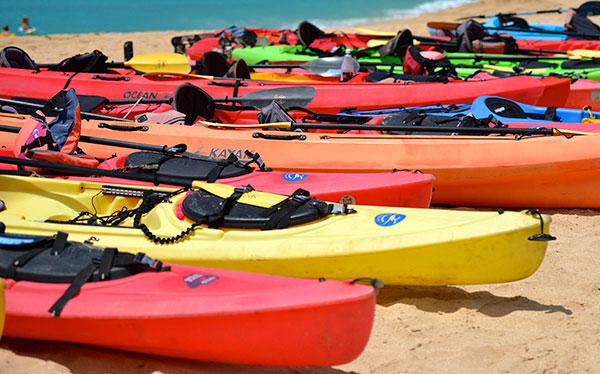 Kayats en la playa