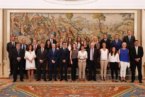 Audiencia de la Reina Letizia con las jugadoras del Rocasa Gran Canaria