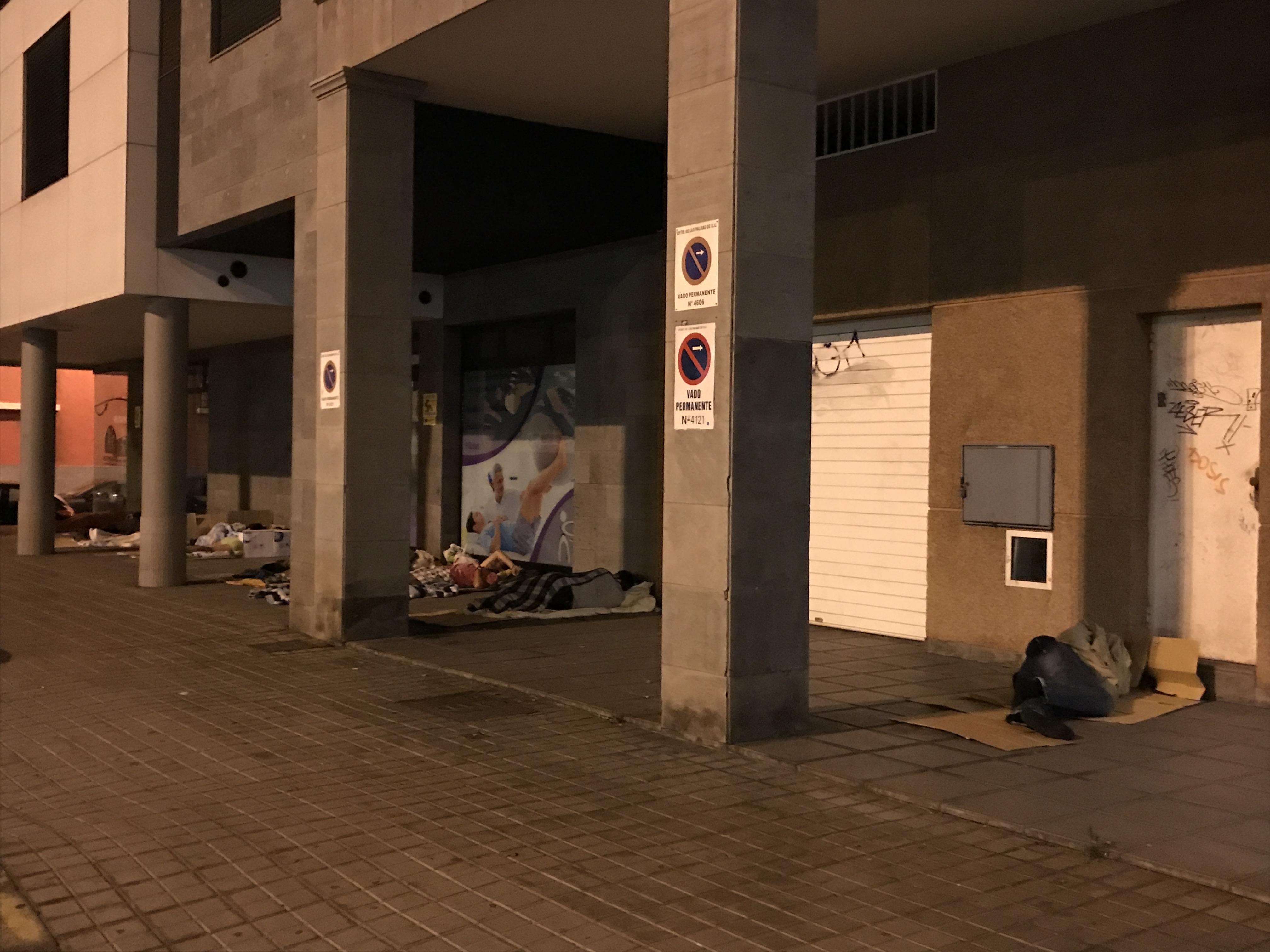 Personas sin hogar en Las Palmas de Gran Canaria
