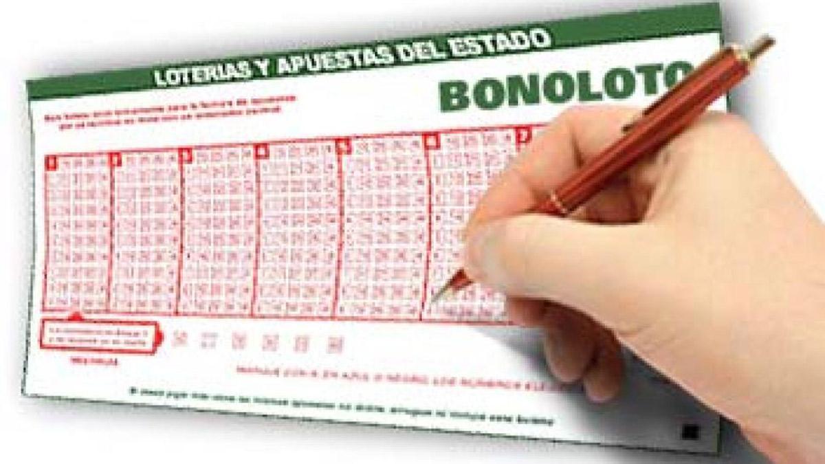 Un formulario de la Bonoloto