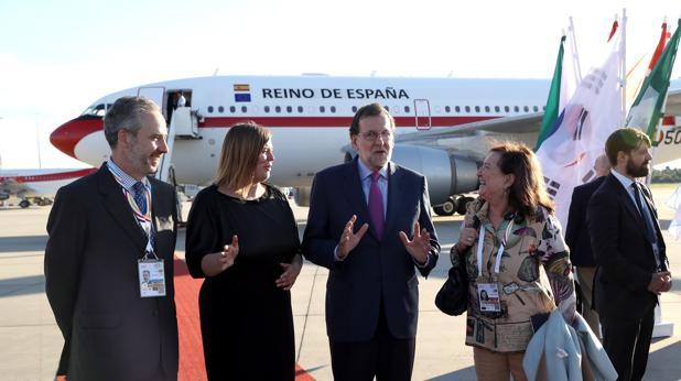 Mariano Rajoy a la llegada a Alemania