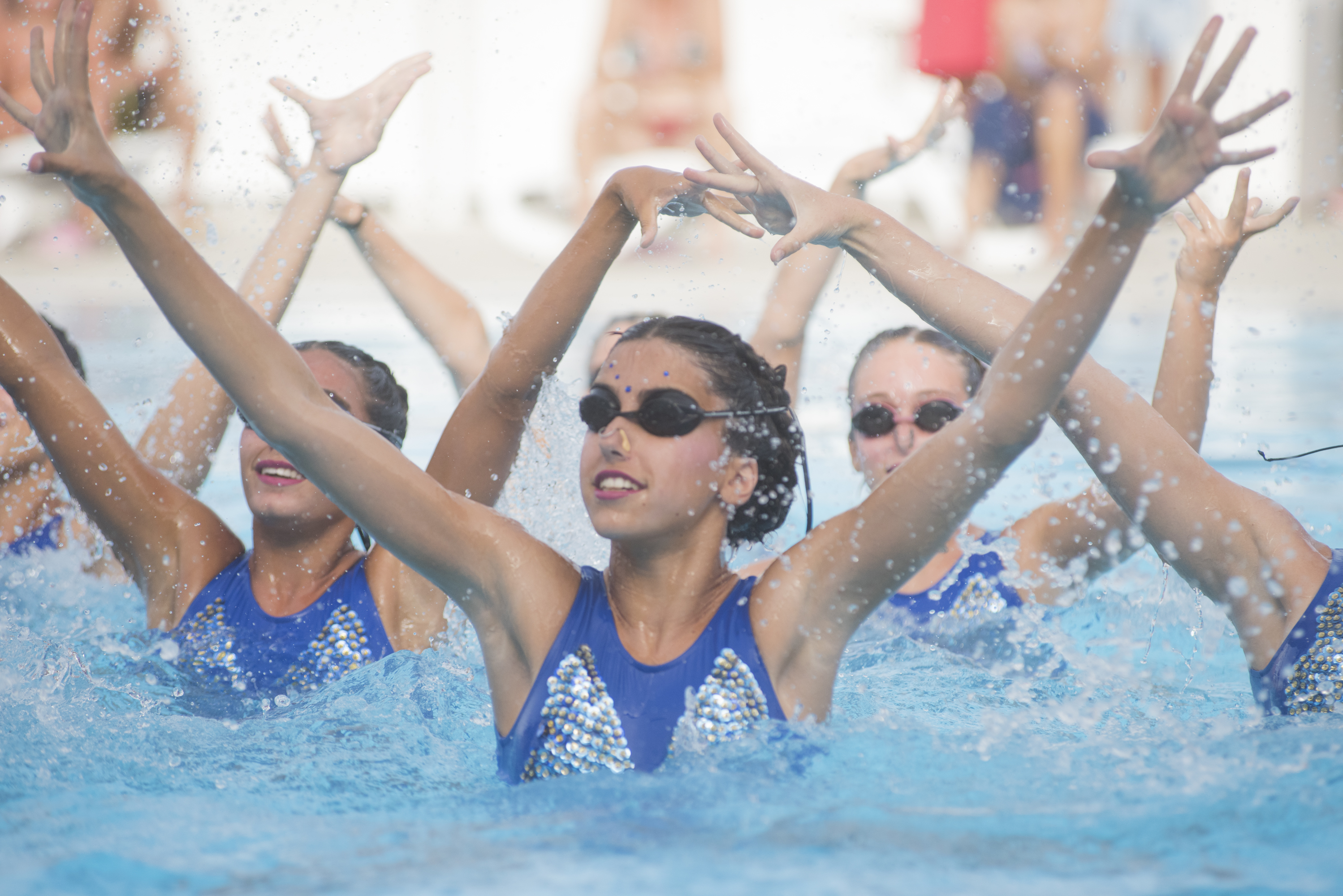 Nadadoras de natación sincronizada