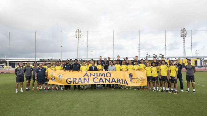 La UD Las Palmas y el Herbalife se unen para dar ánimos a la isla de Gran Canaria tras el incendio