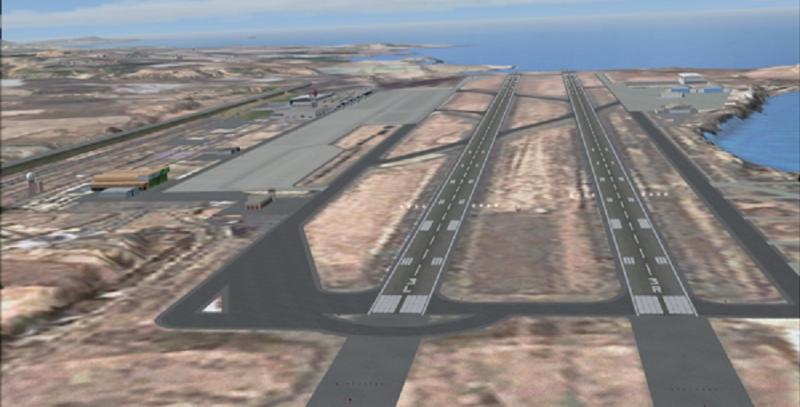 El aeropuerto de Gran Canaria finaliza el mantenimiento en una de sus pistas