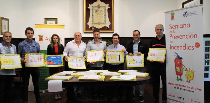 Arucas acoge la Muestra de los servicios de prevención y extinción de grandes catástrofes con motivo de la Semana de Prevención de Incendios