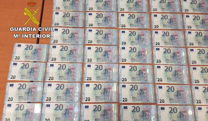 Detenido en Mogán con 39 billetes de 20 euros falsificados