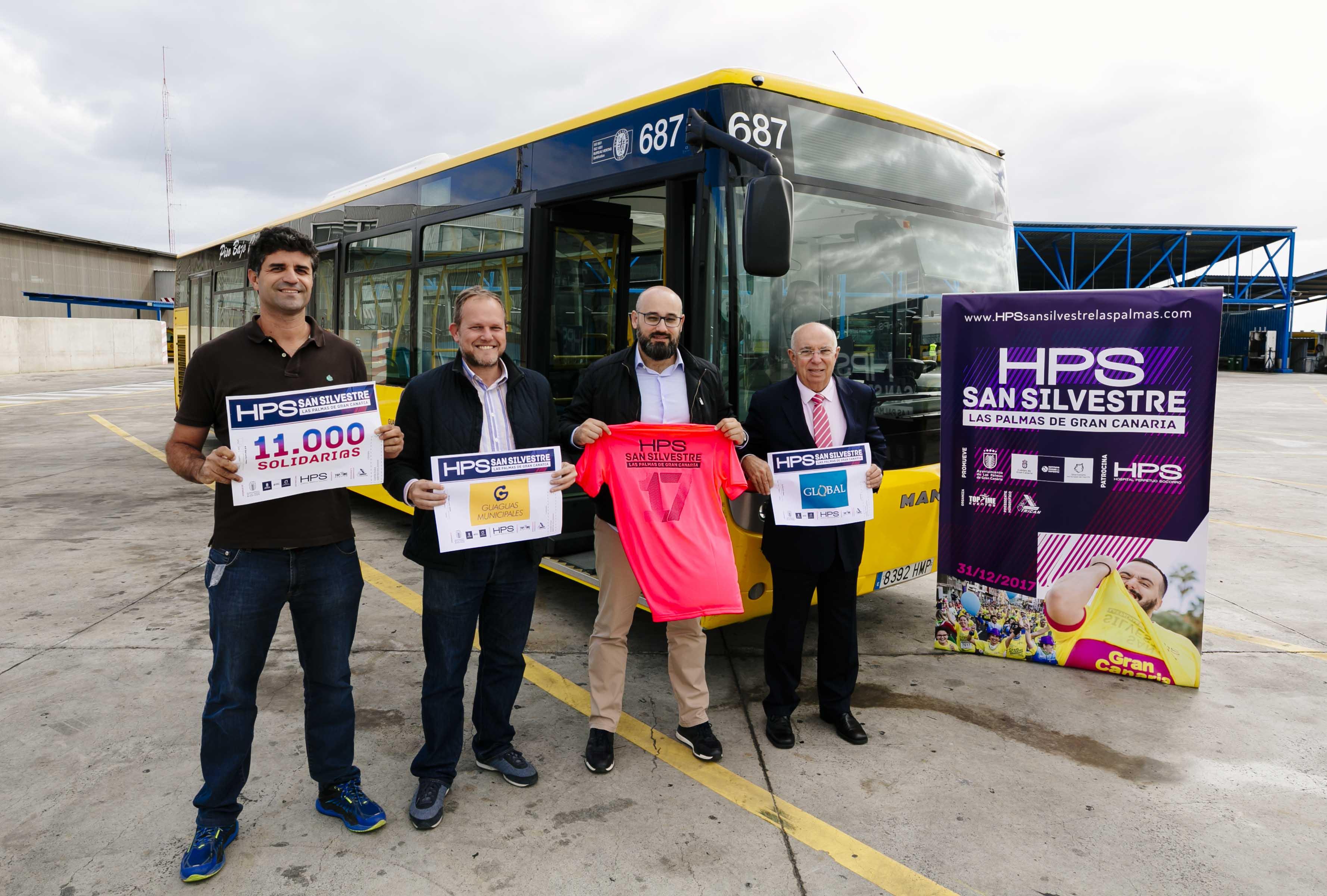 Guaguas Municipales ofrece transporte gratuito a los corredores de la HPS San Silvestre