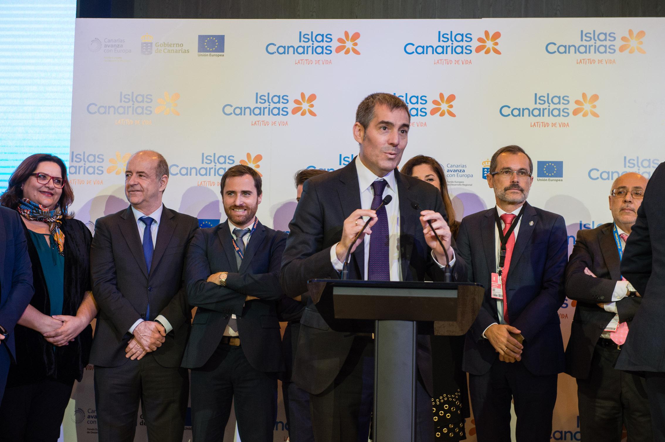 Inauguración del Pabellón de Canarias en FITUR 2018
