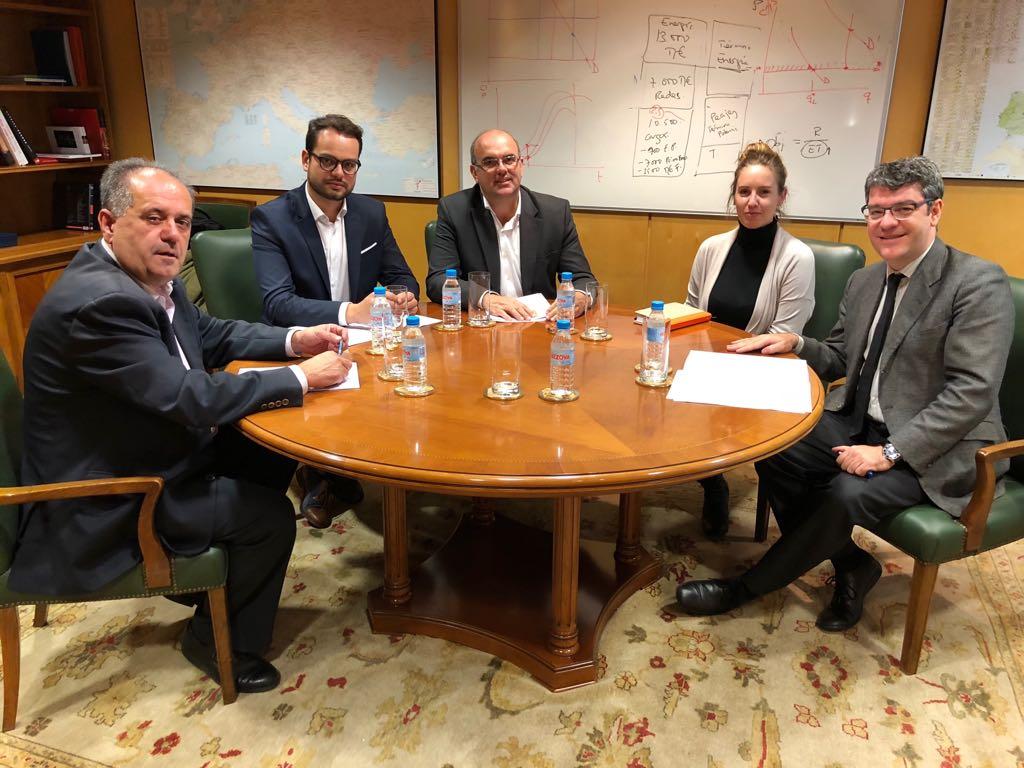 Melisa Rodríguez se reúne con el ministro de Energía en La Palma