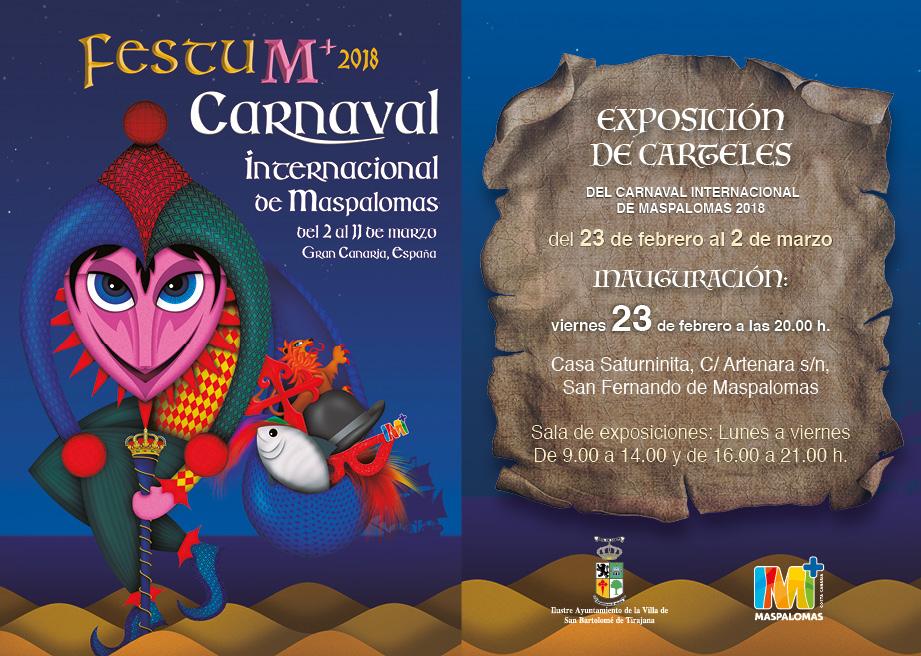 Resultado de imagen de San Bartolomé de Tirajana inaugura este viernes, la exposición de los carteles del Carnaval FestuM+