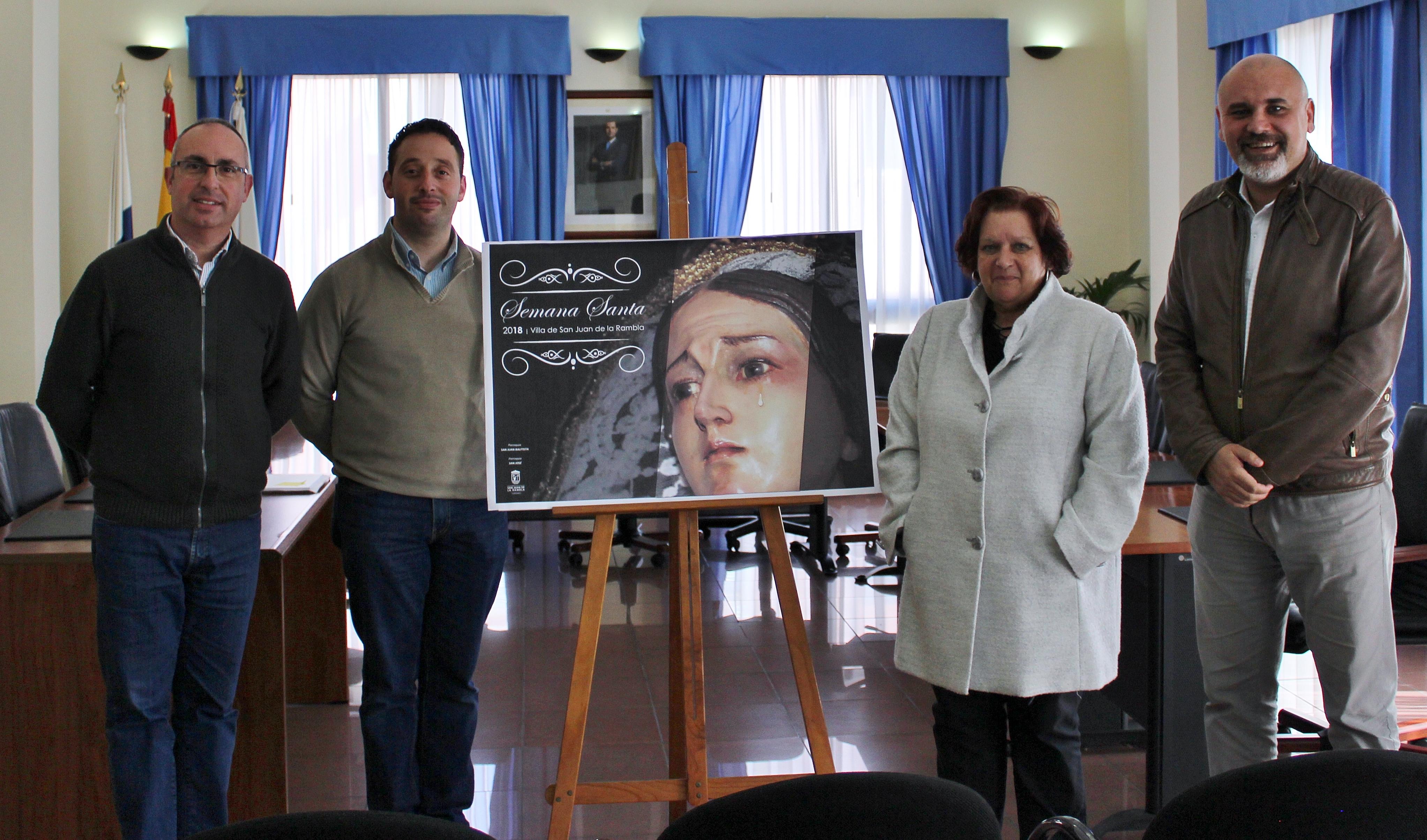 Presentado el cartel oficial de la Semana Santa de San Juan de la Rambla