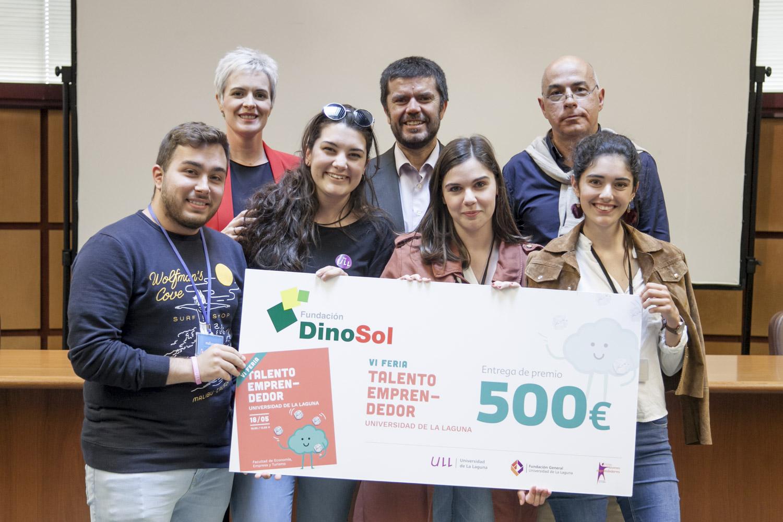 La Fundación DinoSol entrega 4 premios de 500 euros a los ganadores de la 6ª edición de la Feria del Talento Emprendedor