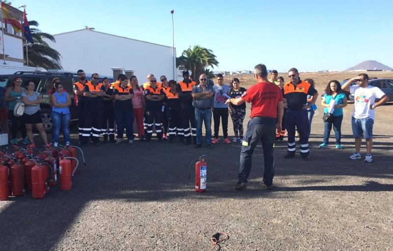 """El Consorcio de Emergencias de Lanzarote organiza el curso gratuito """"Uso y manejo de extintores"""""""