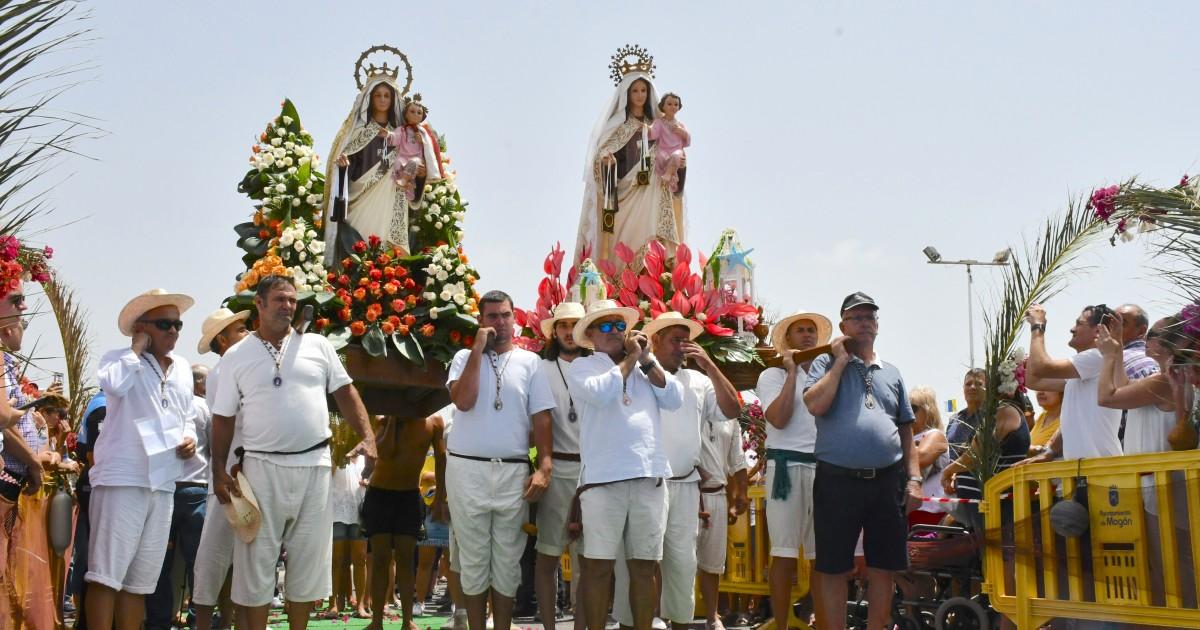 Las Fiestas del Carmen culminan con la procesión marítima de la Virgen del Carmen de Playa de Mogán