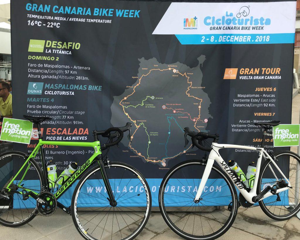 Free Motion, tienda oficial de La Cicloturista Gran Canaria Bike Week