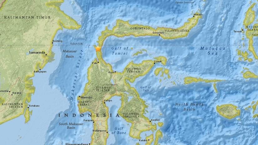 Mapa de la isla de Célebes en Indonesia