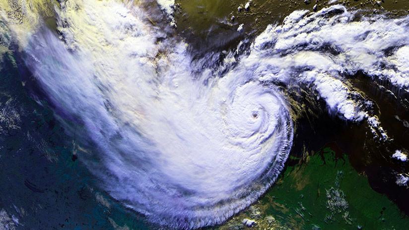 vista de un ciclón