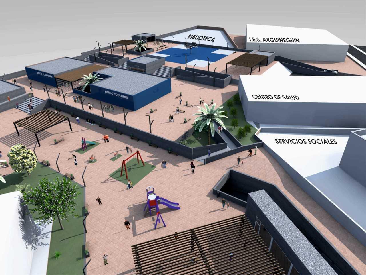 Mogán refuerza la seguridad de los edificios colindantes a la obra del aparcamiento de Arguineguín