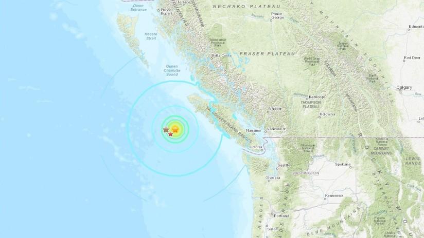 Tres nuevos fuertes sismos sacuden la costa oeste de Canadá, el más potente de magnitud 6,8