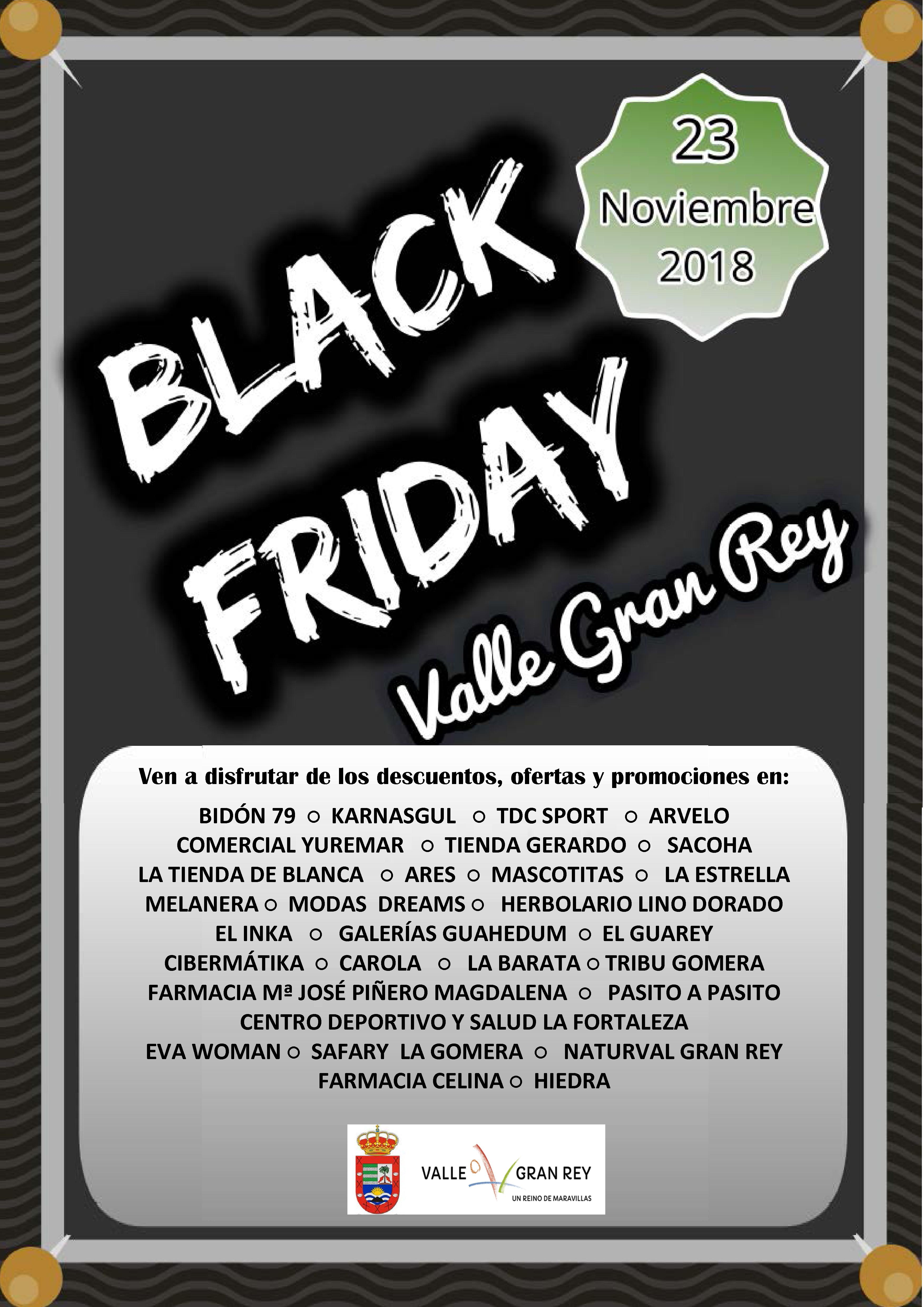 Cartel Black Friday en Valle Gran Rey