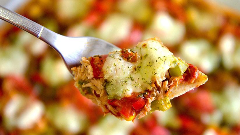 Un tenedor con comida