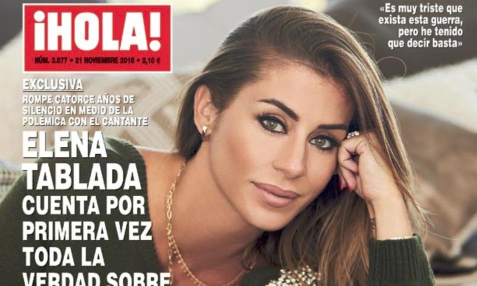 Elena Tablada en la portada de la revista Hola