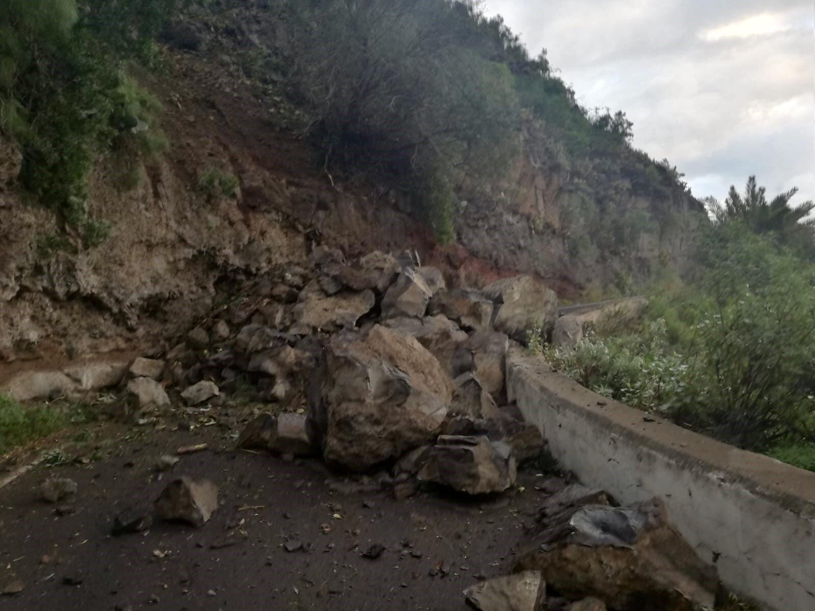 El Cabildo de Gran Canaria declara de emergencia la reparación del tramo de vía que une Firgas con Moya afectado por un desprendimiento